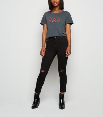 New Look Petite Short Leg Ripped Jenna Skinny Jeans