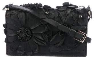 Valentino Floral-Embellished Crossbody Bag
