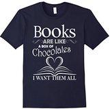 Books Men's Are Like A Box Of Chocolates I Want Them All T-Shirt Medium