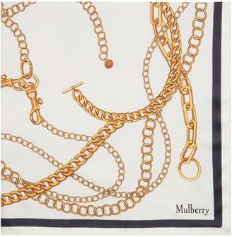 Mulberry Multi Chain Square Cream Silk Twill