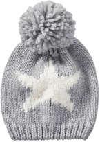 Joe Fresh Toddler Girls' Graphic Hat, Grey (Size 1-3)