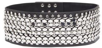 Christopher Kane Crystal-embellished Leather Belt - Black Silver