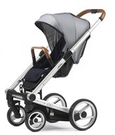 Mutsy Igo Urban Nomad White and Blue with Silver Chassis Child Stroller