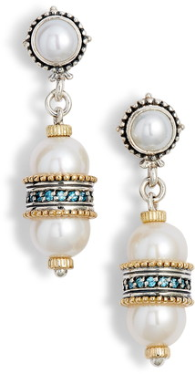 Konstantino Thalia Double Pearl Drop Earrings