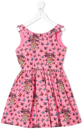 MOSCHINO BAMBINO Butterfly Print Dress
