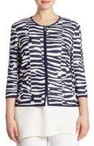 Stizzoli, Plus Size Plus Animal Print Jacket