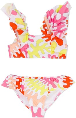 Emilio Pucci Junior Abstract-Print Bikini Set