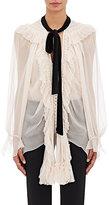 Chloé Women's Silk Long-Sleeve Tieneck Blouse-PINK