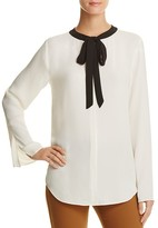 Theory Kimry Tie-Neck Silk Top - 100% Bloomingdale's Exclusive