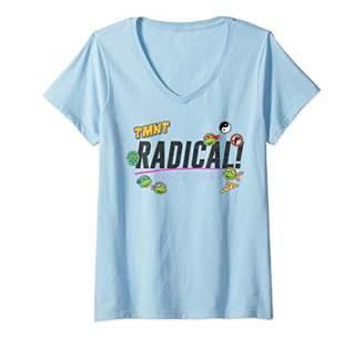 Nickelodeon Womens Teenage Mutant Ninja Turtles Radical! V-Neck T-Shirt