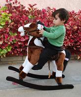 Brown Galloping Rocking Horse