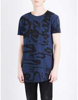 Diesel T-longer Cotton-jersey T-shirt