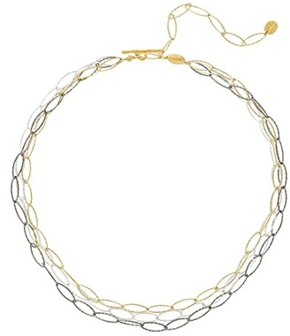 Chan Luu Short Mixed Metal Chain Necklace (Gold Mix) Necklace