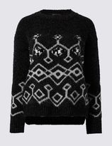 Marks and Spencer Crew Neck Chunky Jewel Jumper