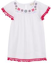 Floatimini Embroidered Angel Sleeve Pom Pom Cover-Up Dress (Toddler, Little Girls, & Big Girls)