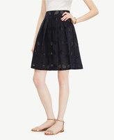 Ann Taylor Petite Eyelet Tennis Full Skirt