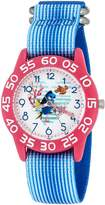 Disney Girl's 'Finding Dory' Quartz Plastic and Nylon Automatic Watch, Color: (Model: W003015)