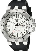 Swiss Legend Men's 10126-02S Challenger Textured Dial Black Silicone Watch