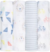 Aden and Anais Infant Unisex Leader of the Pack Swaddles, 4 Pack