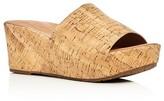 Gentle Souls Forella Cork Platform Slide Sandals