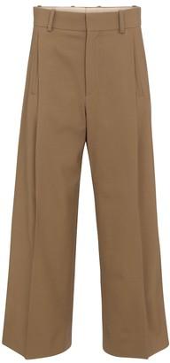 Chloé High-rise wide-leg wool twill pants