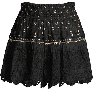 Ramy Brook Bruno Crochet Skirt