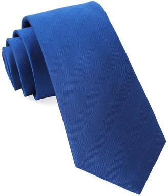 Tie Bar Herringbone Vow Royal Blue Tie