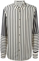 McQ by Alexander McQueen striped shirt - men - Cupro - 46