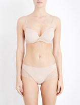 Triumph Amourette Spotlight satin and mesh underwired bra