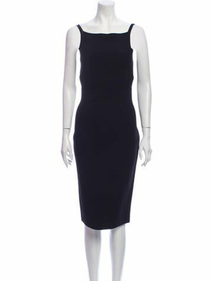 Narciso Rodriguez Square Neckline Knee-Length Dress Black