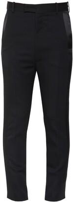Alexander McQueen Wool Tuxedo Pants W/Satin Bands
