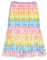 Flowers by Zoe Girl's Rainbow Fringe Skirt
