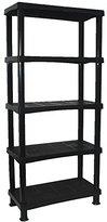 CrazyGadget® Storage Shelving Shelves Unit 5 Tier Racking Plastic for Home Living Room Garage - Extra Large (BLACK) - MADE IN UK