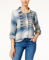 American Rag Embroidered Plaid Shirt, Only at Macy's