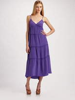 BCBGMAXAZRIA Silk Tiered Dress