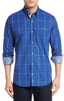 Tailorbyrd Men's 'Kunlun Mountains' Regular Fit Windowpane Sport Shirt