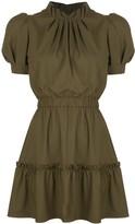 Alice + Olivia Alice+Olivia Vida puff sleeve ruffle dress