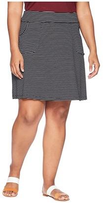 Fresh Produce Plus Size Pinstripe City Skort (Black) Women's Skort