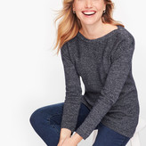 Talbots Contrast Stitch Sweater - Marled