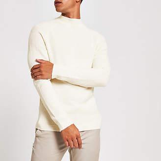 River Island Ecru turtle neck slim fit knitted jumper