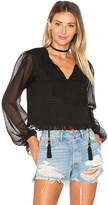 Ale By Alessandra x REVOLVE Micaela Blouse in Black. - size S (also in XS)