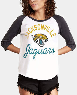 Authentic Nfl Apparel Women Jacksonville Jaguars Raglan T-Shirt