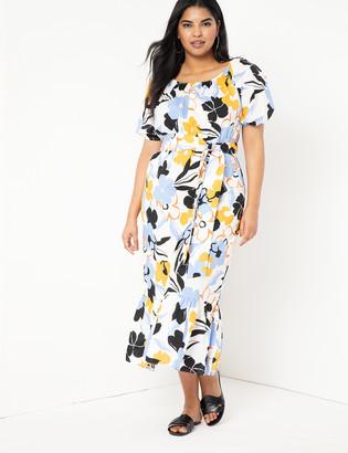 ELOQUII Optional Off the Shoulder Dress