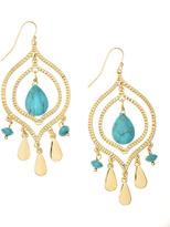 Lee Angel Turquoise-Drop Chandelier Earrings
