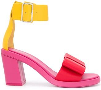 Comme des Garcons Colour-Block Ankle Strap Sandals