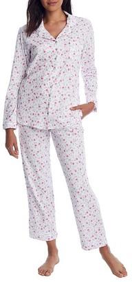 Eileen West Viney Floral Knit Pajama Set