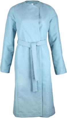 Format YUMI bluegreen moleskin coat - S - Teal/Blue/Green