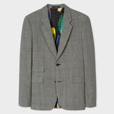 Paul Smith Men's Slim-Fit Grey Check Wool Blazer
