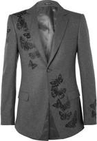 Alexander McQueen Embroidered Wool Blazer