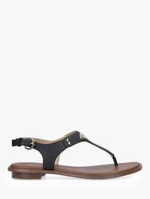Michael Kors MICHAEL Logo Plated T-Strap Sandals